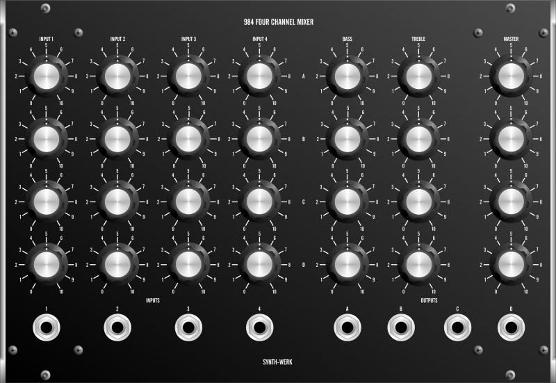 SW984 FOUR CHANNEL MATRIX MIXER